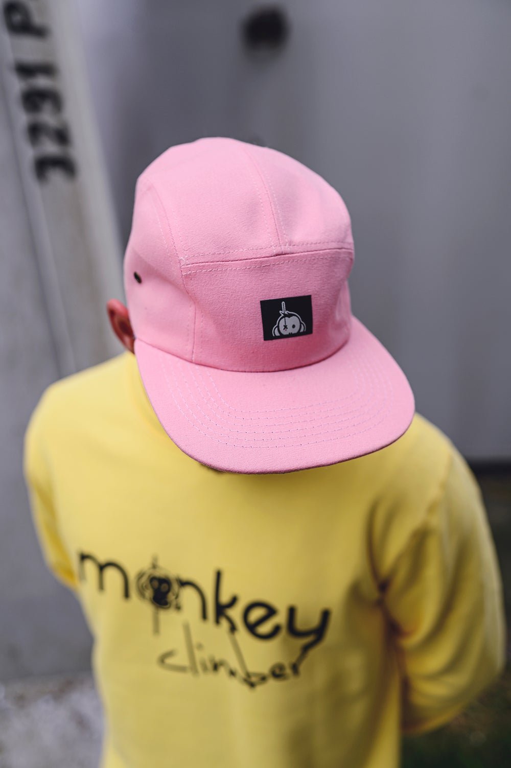 Image of Monkey Climber Halfawrap USA 5 panel I Baby Pink (very ltd!)