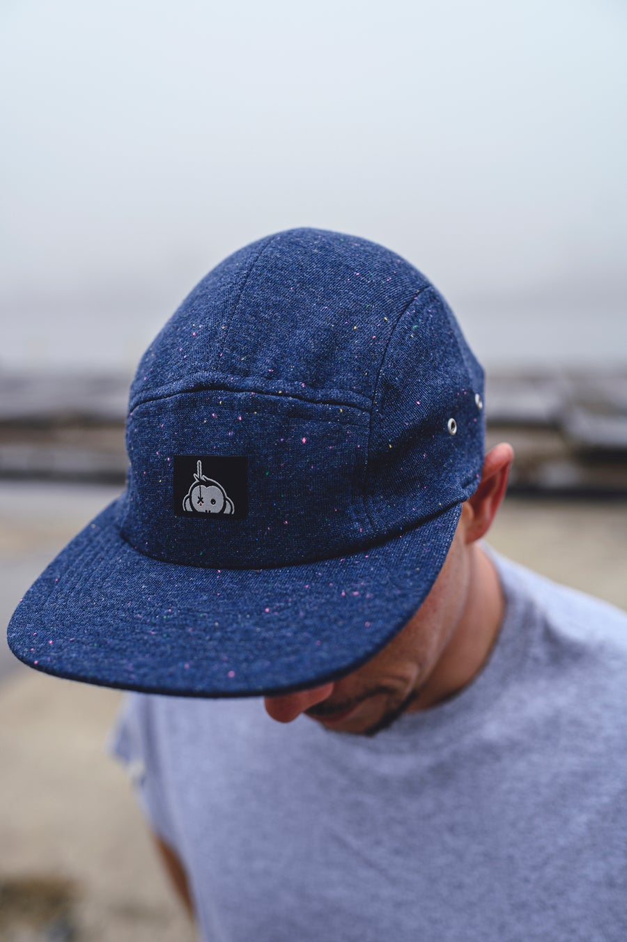 Image of Monkey Climber Speckled Halfawrap 5 panel I Heather Indigo Blue