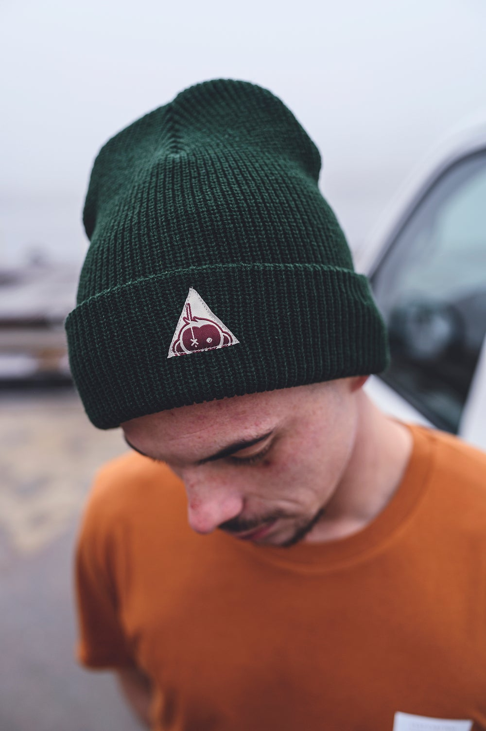 Image of Monkey Climber Triangle Logo beanie I Botanic Green