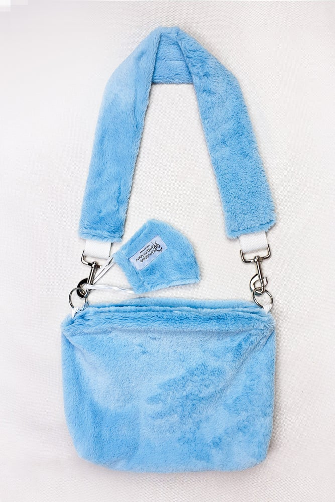 Image of Sky Furry Purse + MASK