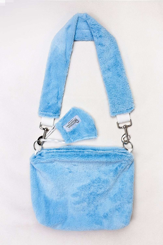 Image of Blue Pill Furry Purse + MASK