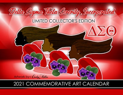 Image of Delta Sigma Theta Sorority, Inc. Commemorative Art Calendar 2021