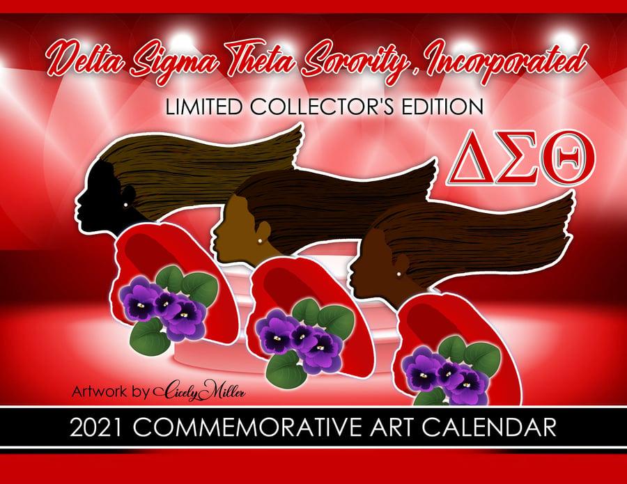 Image of Delta Sigma Theta Sorority, Inc. Commemorative Art Calendar 2021