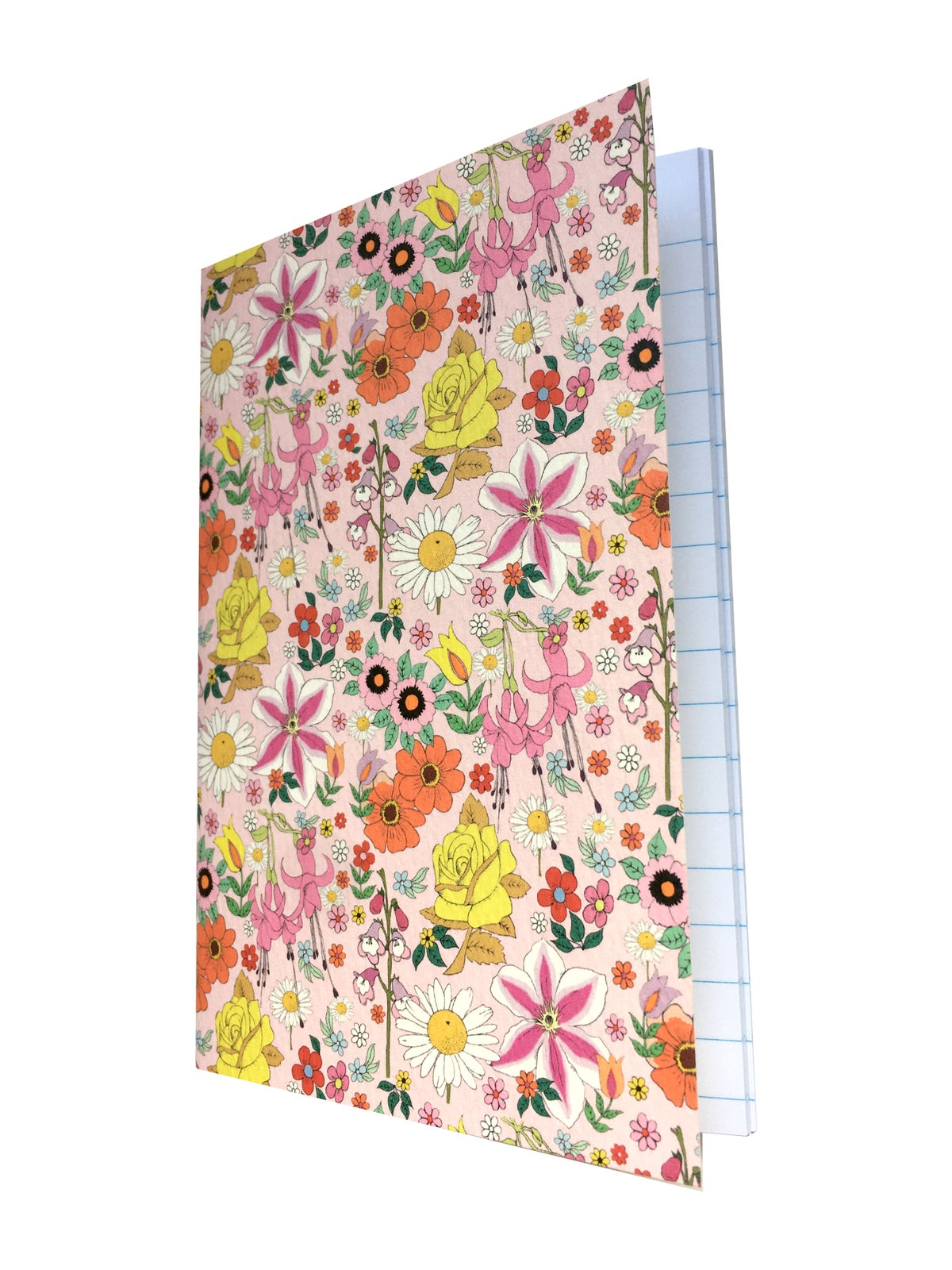 Floral Pattern A6 Lined Notebook