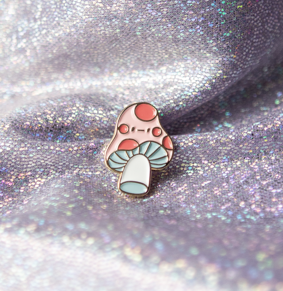 Image of Extra Small Meh Shroom Enamel Pin