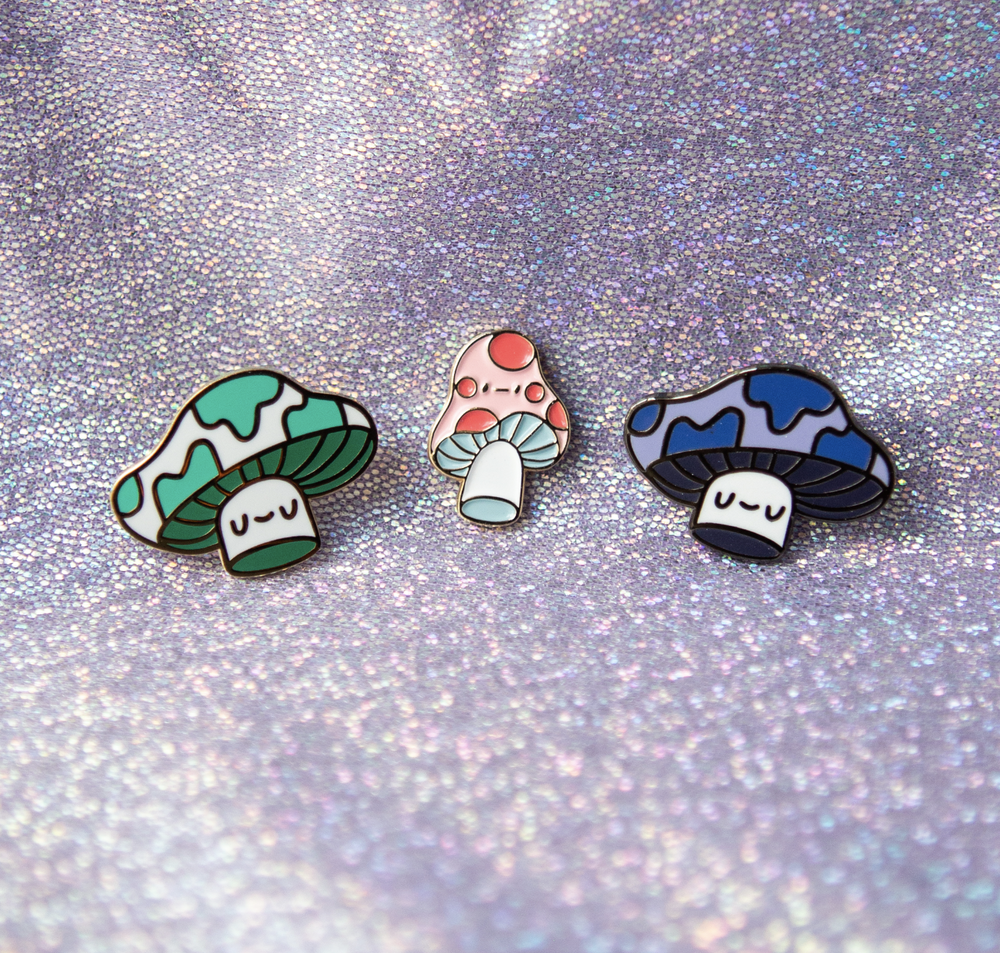 Image of 3 Mushroom Pin Bundle