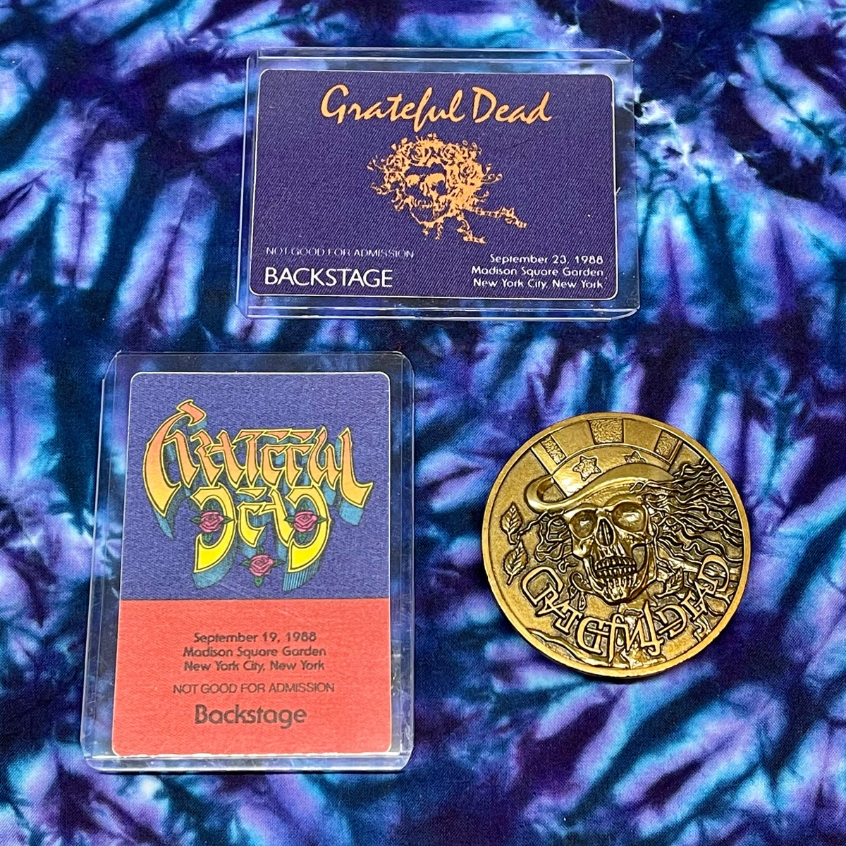 Original Vintage Grateful Dead 1980's Embroidered Crew Jacket!!! Deadstock!