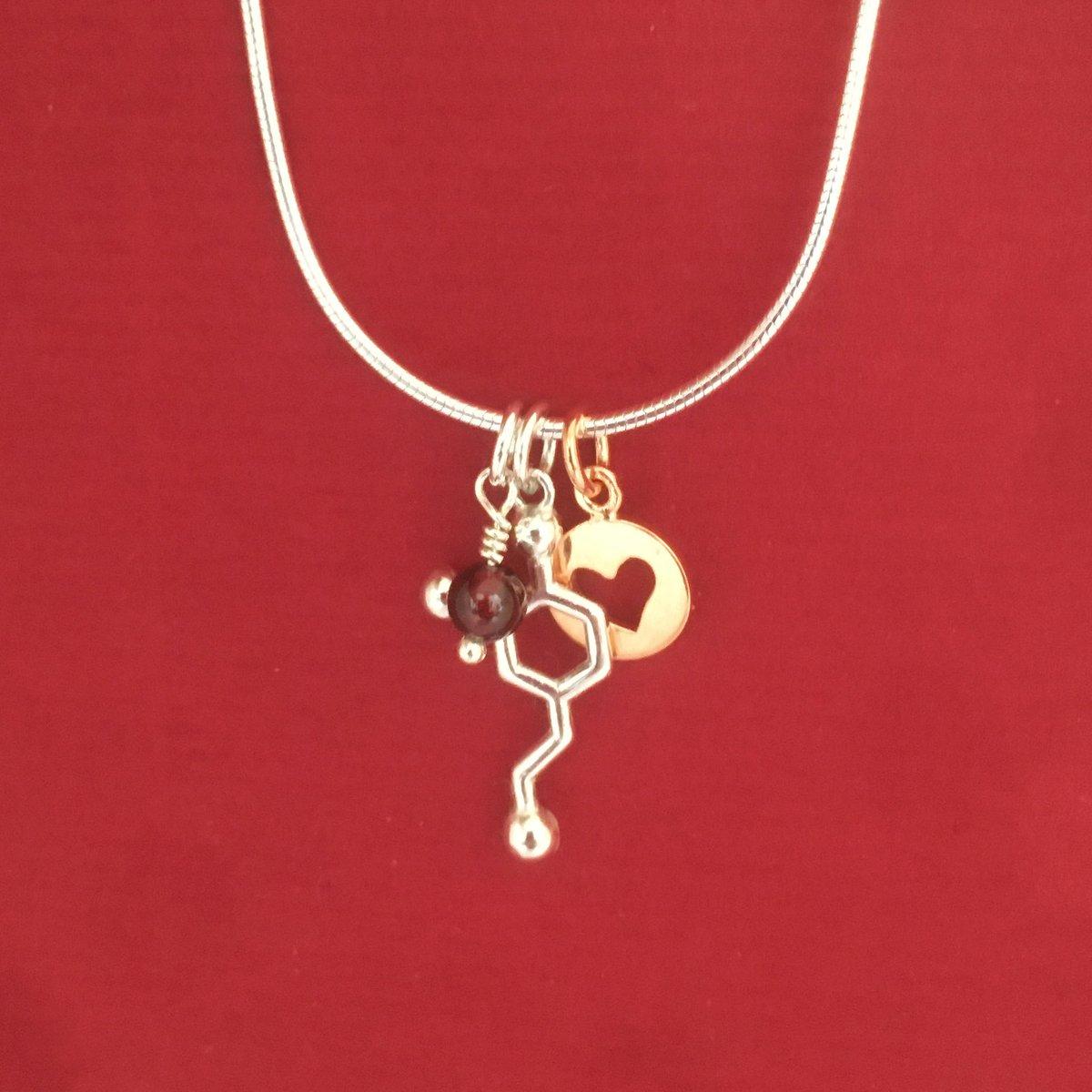 Image of dopamine heart necklace