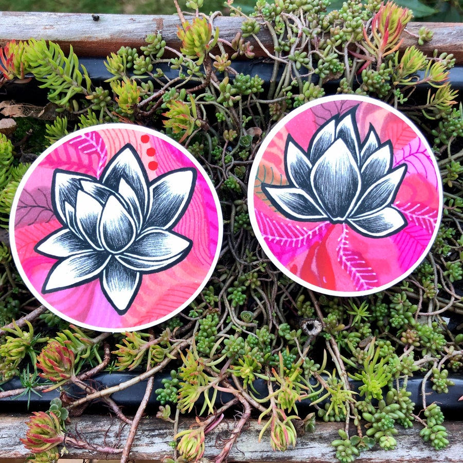 Image of 2 Lotus Stickers