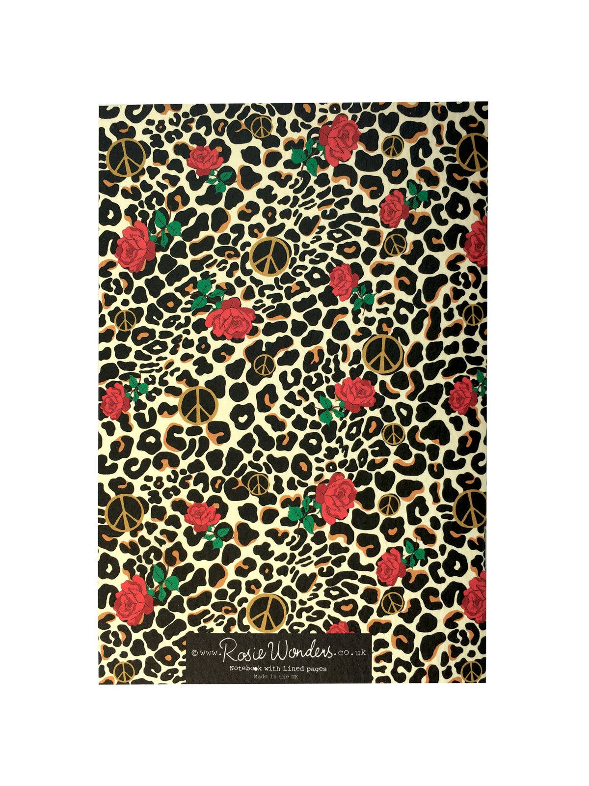 Peace Leopard Patterned A6 Notebook
