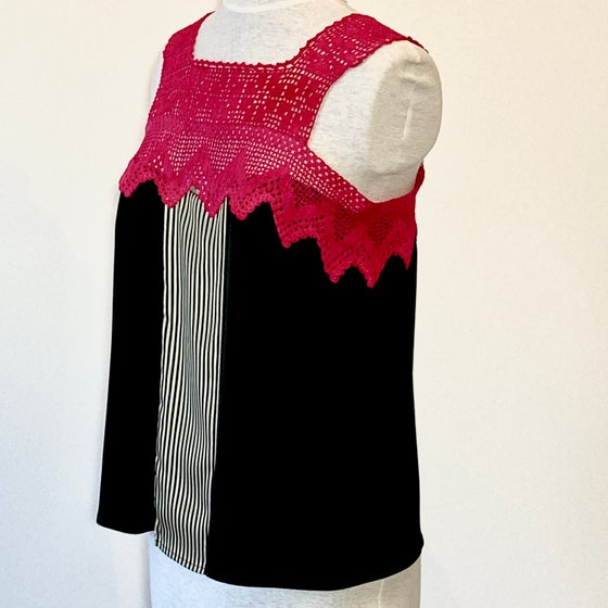 Image of  Noir and Hot Pink Nixie Blouse
