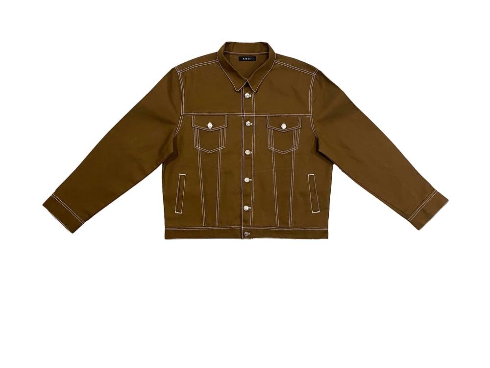 Image of Slim Brown Canvas Jacket