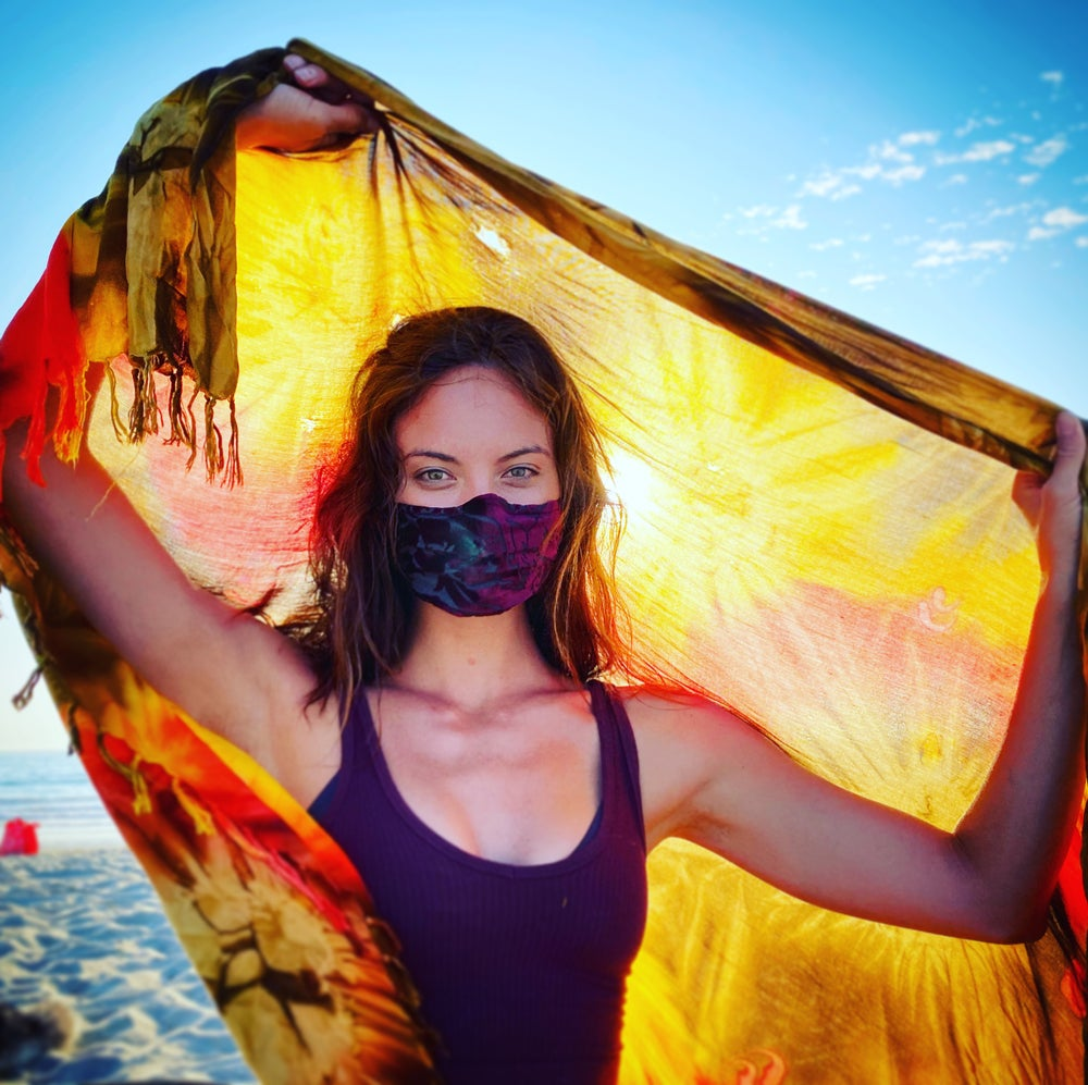 Image of Silk Velvet  Mask: Deco Flowers