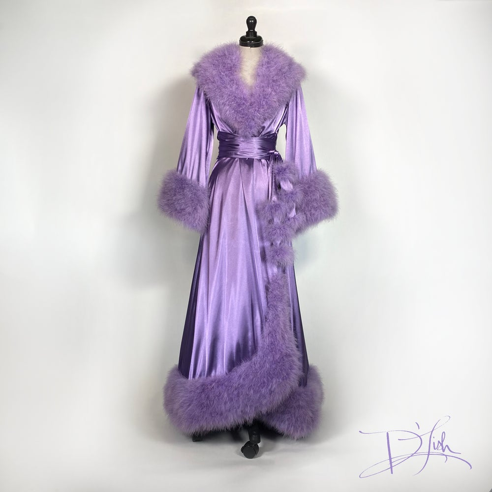 "Image of ""Dusty Violet"" Dominique Dressing Gown"