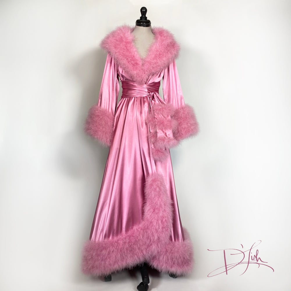 "Image of ""Dusty Rose"" Dominique Dressing Gown"
