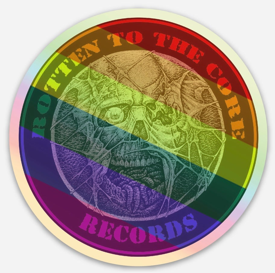 "Image of Rotten To The Core Records 3"" Holographic ""Pride"" sticker"