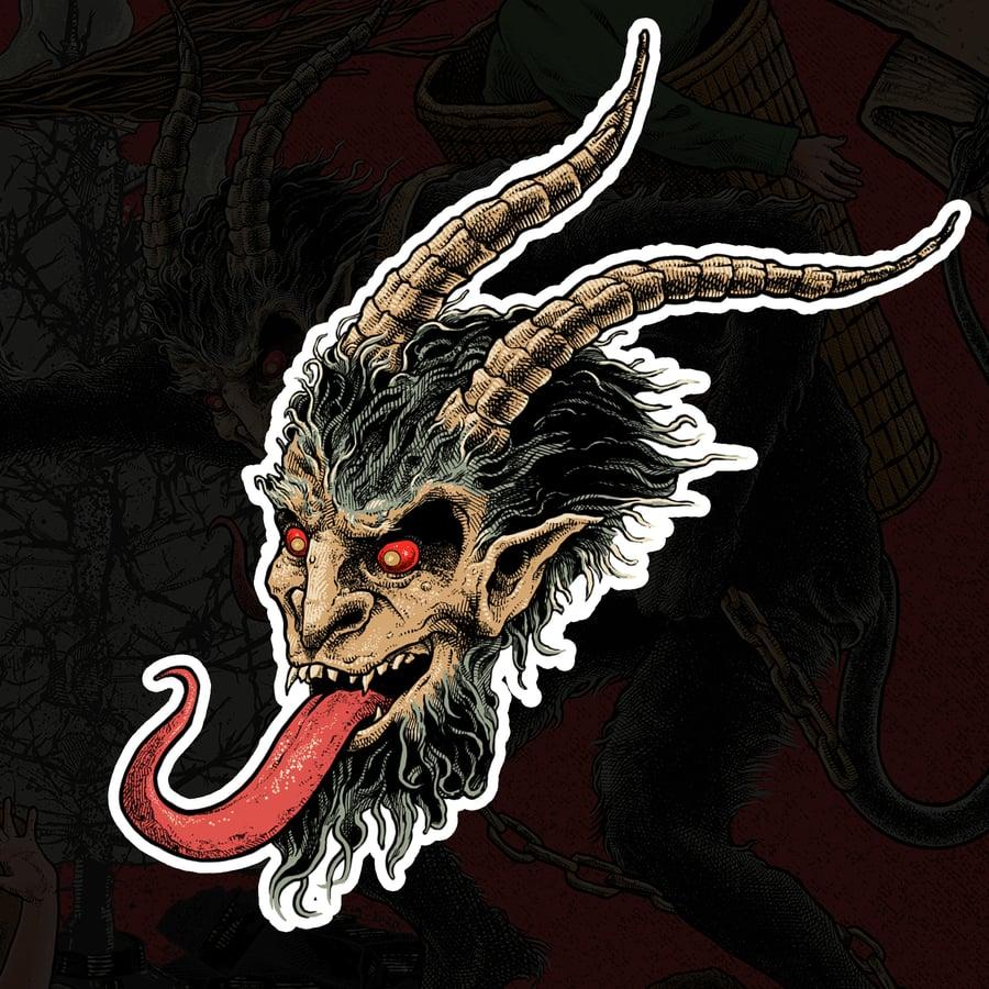 Image of Krampus Die Cut Sticker