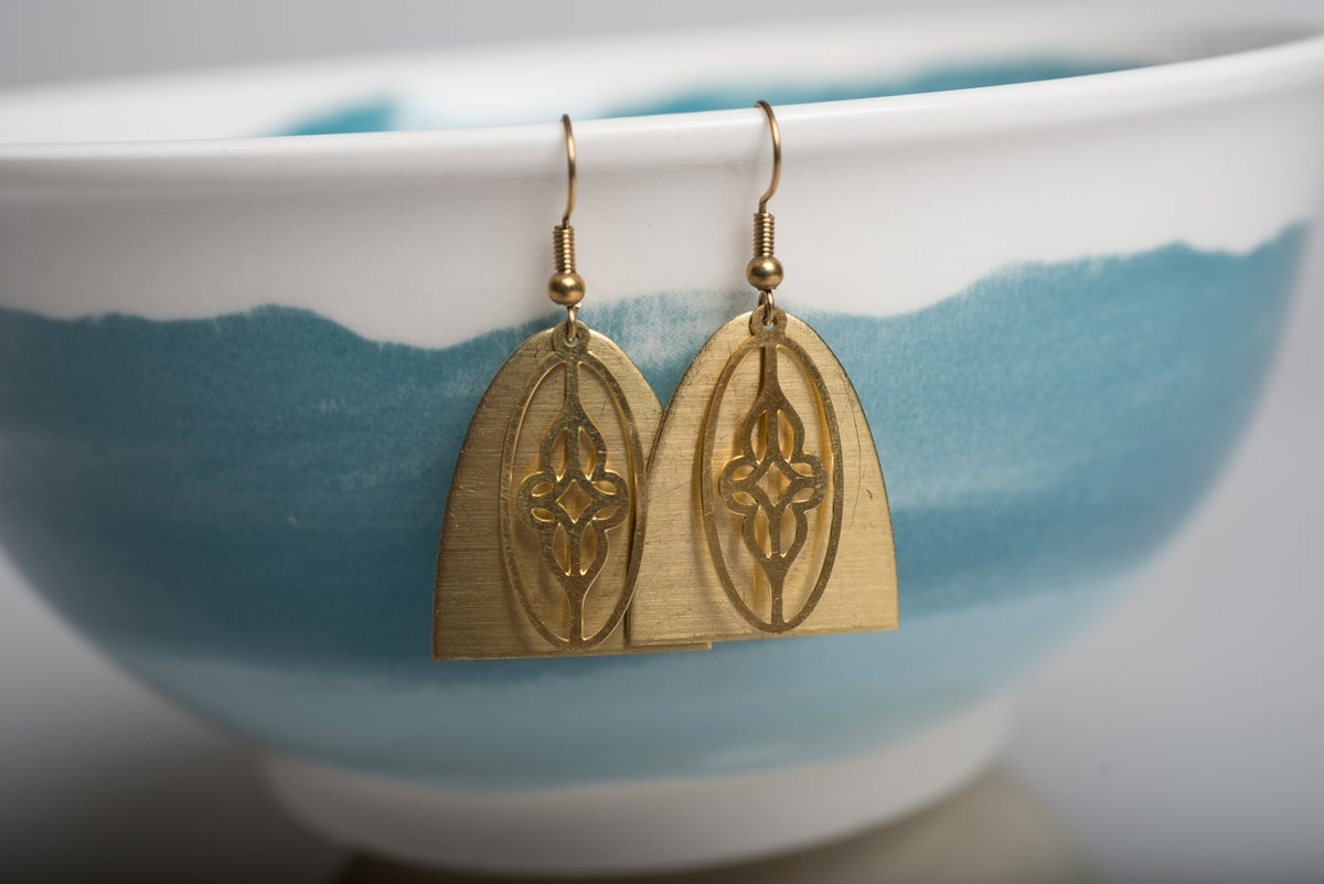 Image of Layered Brass Earrings
