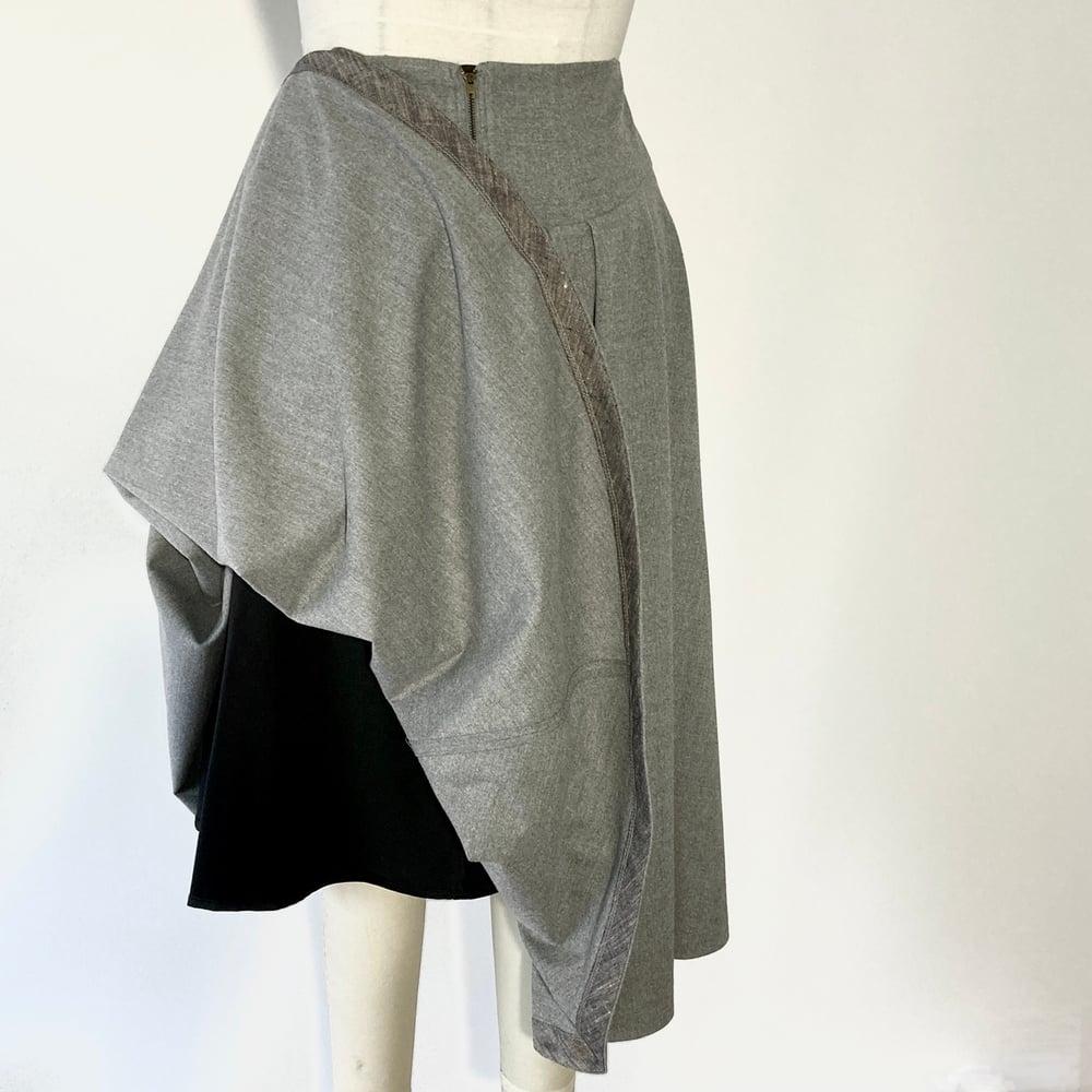 Image of Gray WOOL High Waist Suzanna Skirt