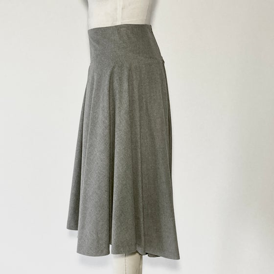 Image of Gray WOOL High Waist Suzanna Skirt
