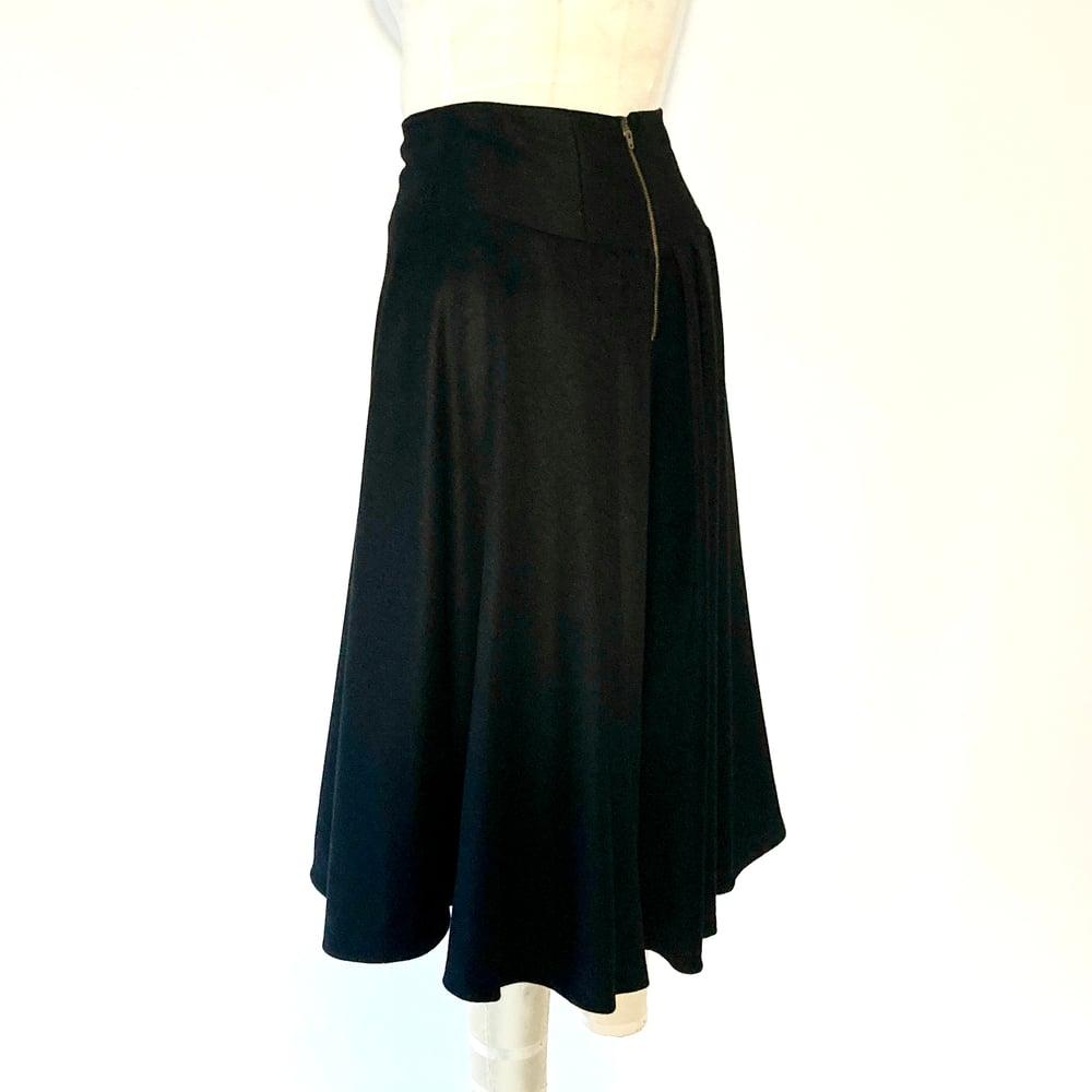 Image of Black WOOL High Waist Suzanna Skirt