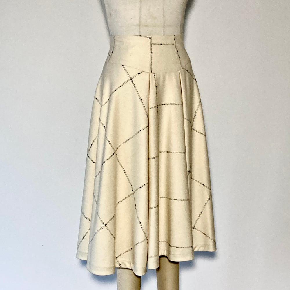Image of Pearl Noir WOOL High Waist Suzanna Skirt