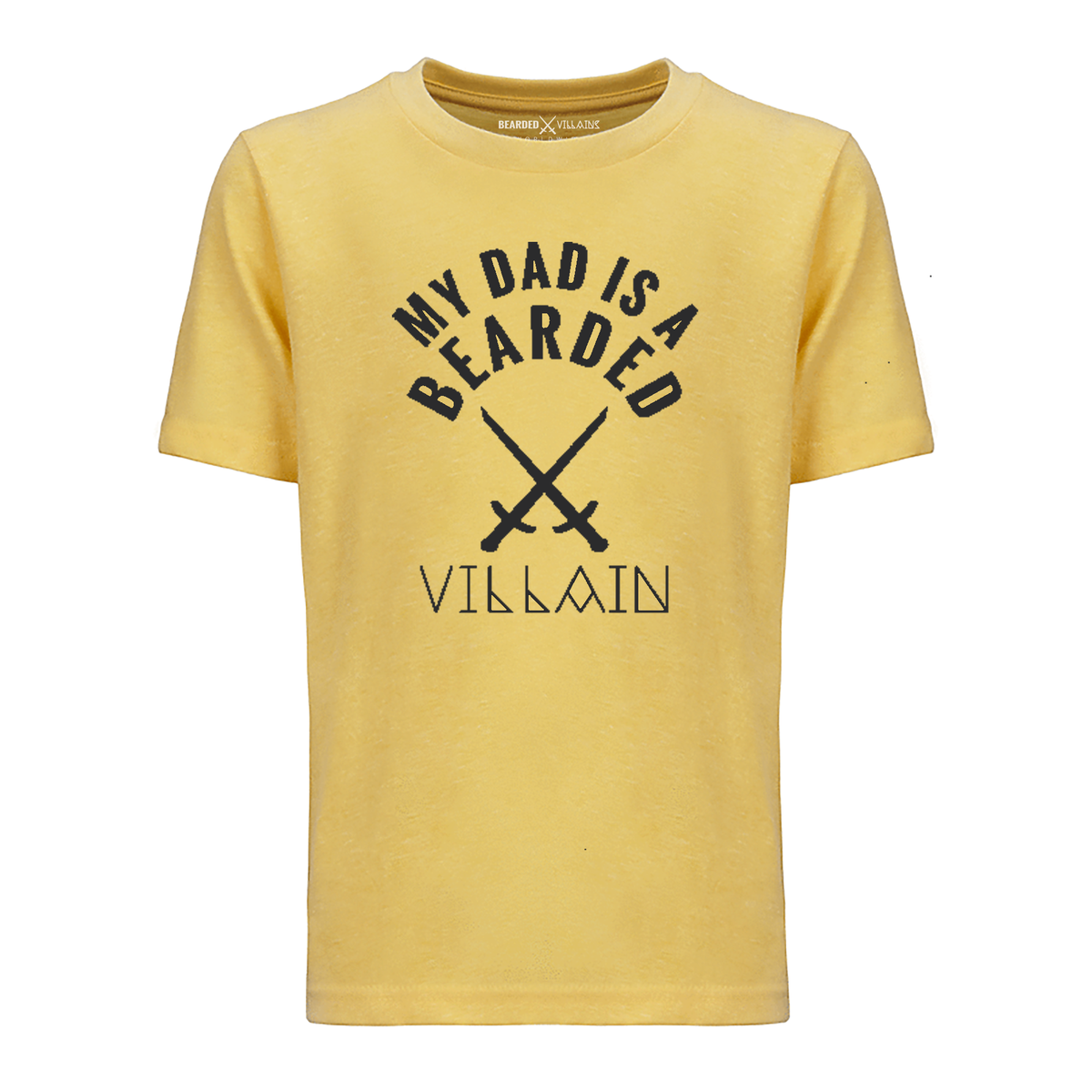 """Image of """" DAD IS A BEARDED VILLAIN """" Kids Tee"""