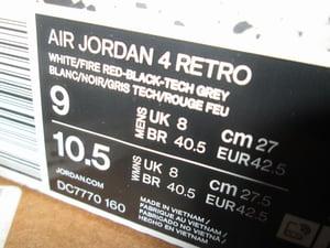 "Image of Air Jordan IV (4) Retro OG ""Fire Red"" 2020"