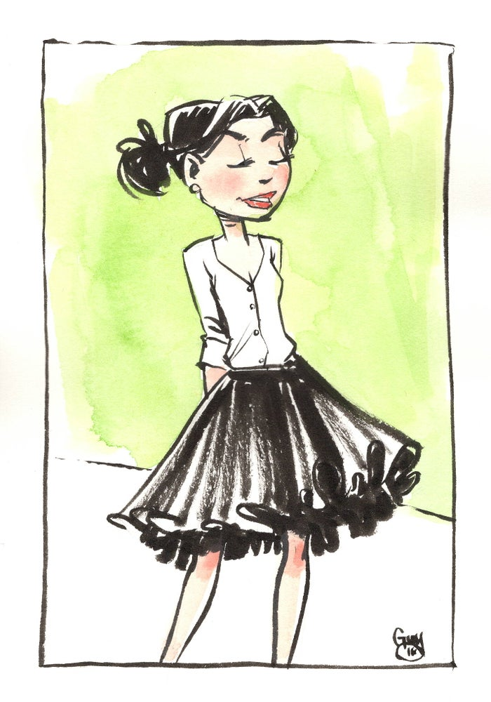 Image of Girl in Skirt (5x7)