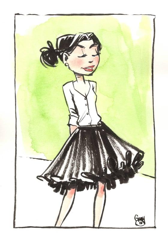 Image of Girl in Skirt (5x7)