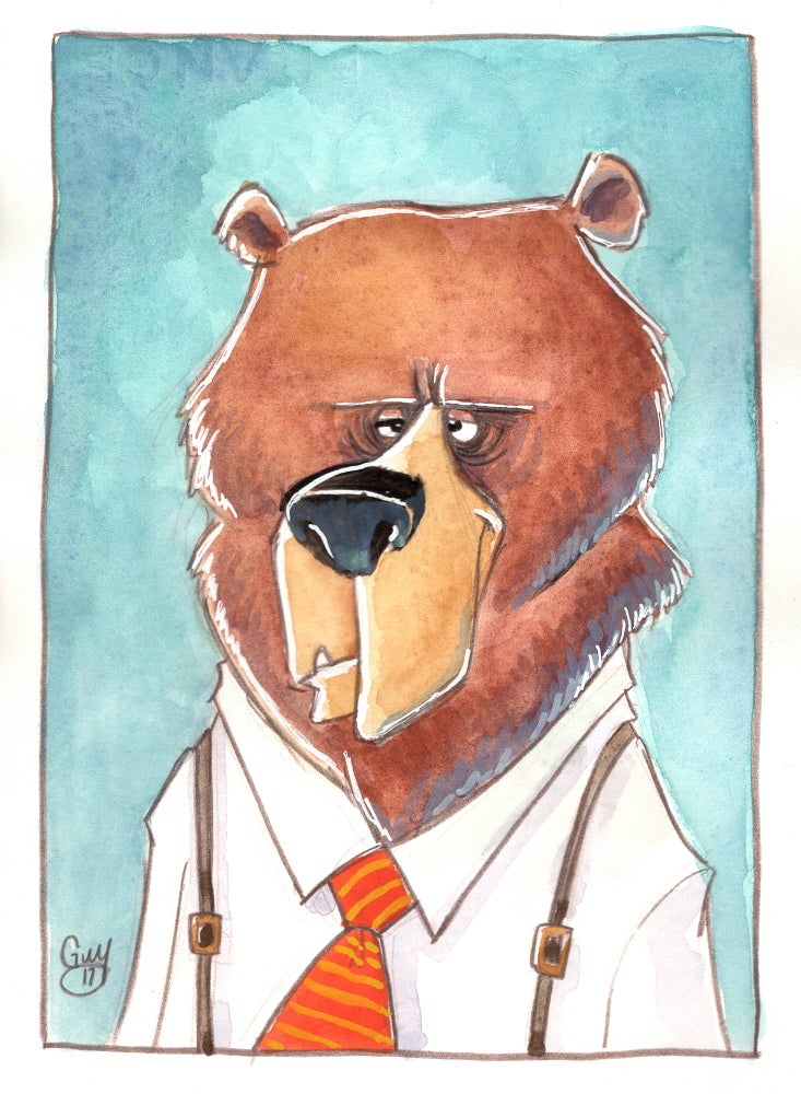 Image of Dressed Up Bear (5x7)