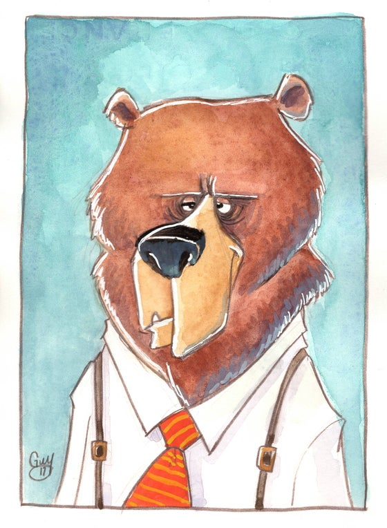 Image of Dressed Up Bear (5x7)