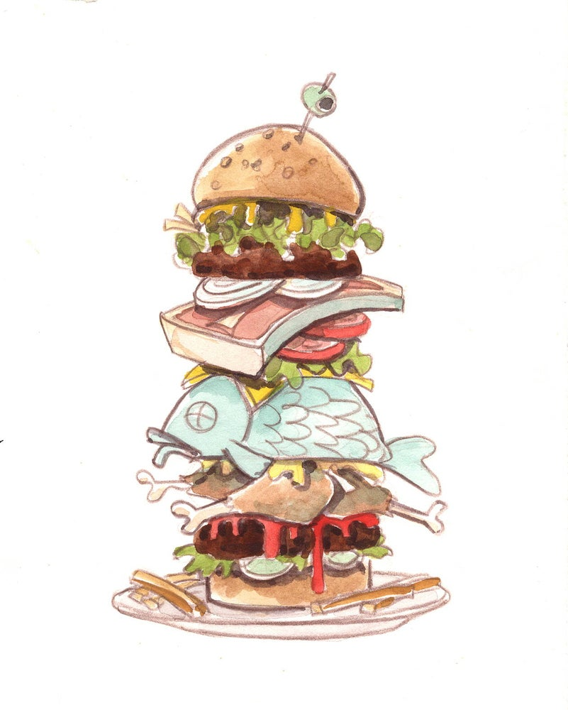 Image of Fish Burger (4.5x5.5)