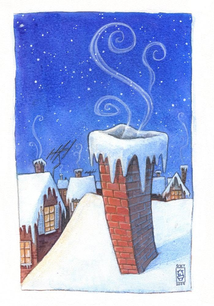 Image of Snowy Chimney (8.5x11)