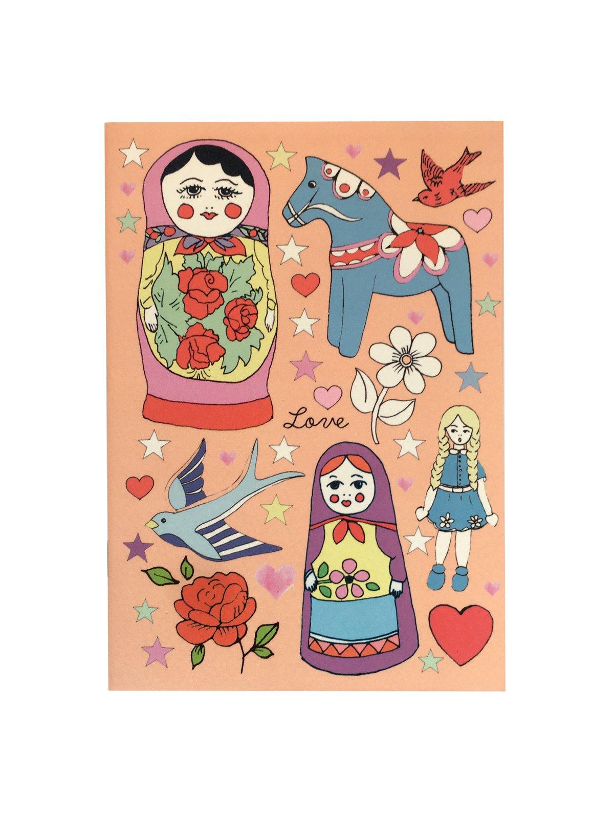 Russian Dolls A6 Pocket Notebook