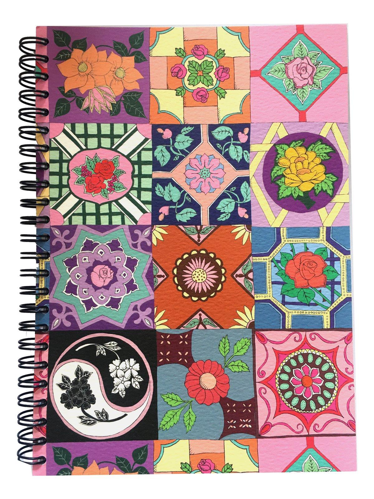Majolica Spiral Bound A5 Notebook