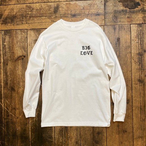 Image of BIG LOVE CLASSIC LONG T-SHIRT -WHITE-
