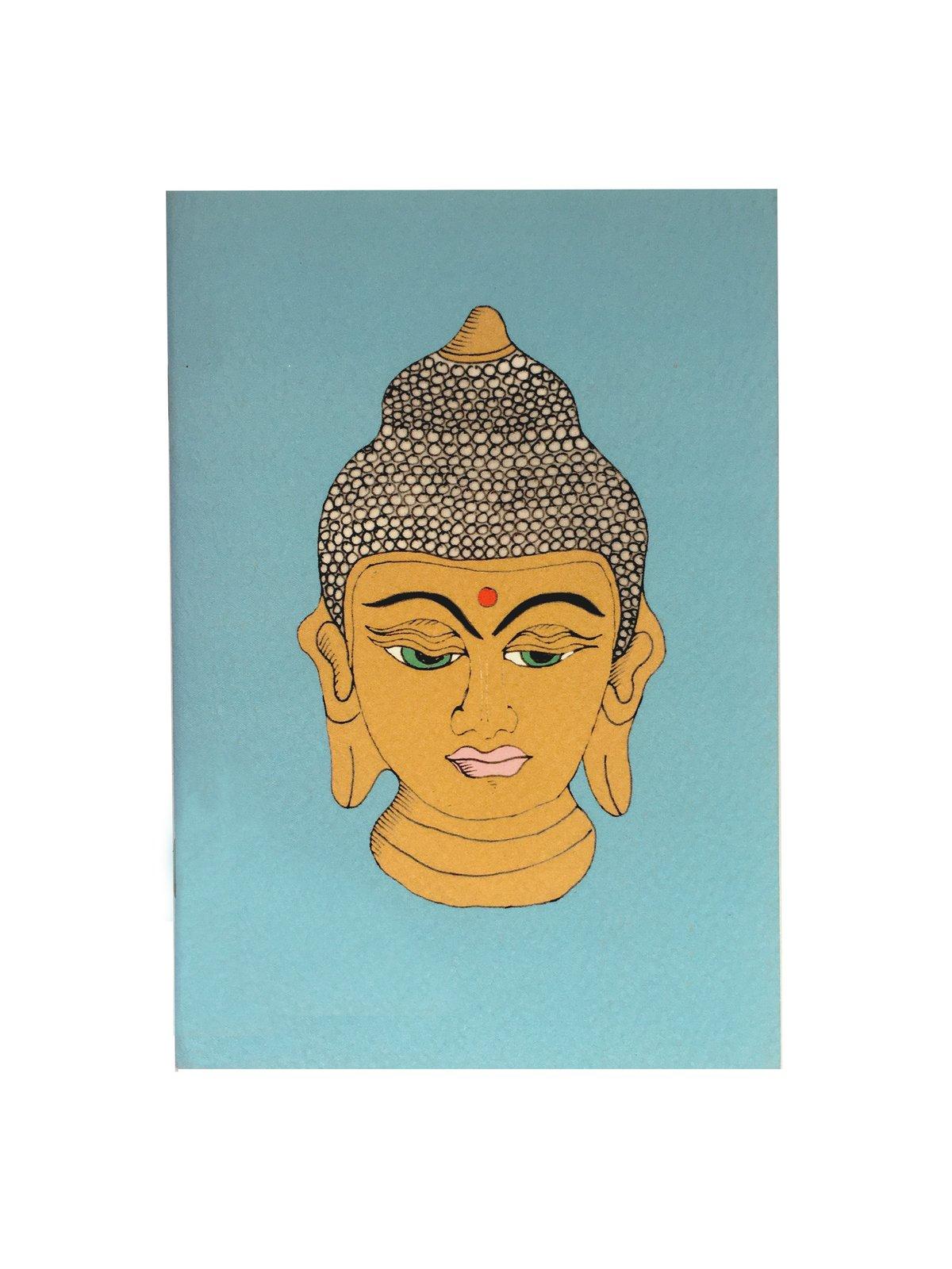 Buddha Head A6 Pocket Notebook