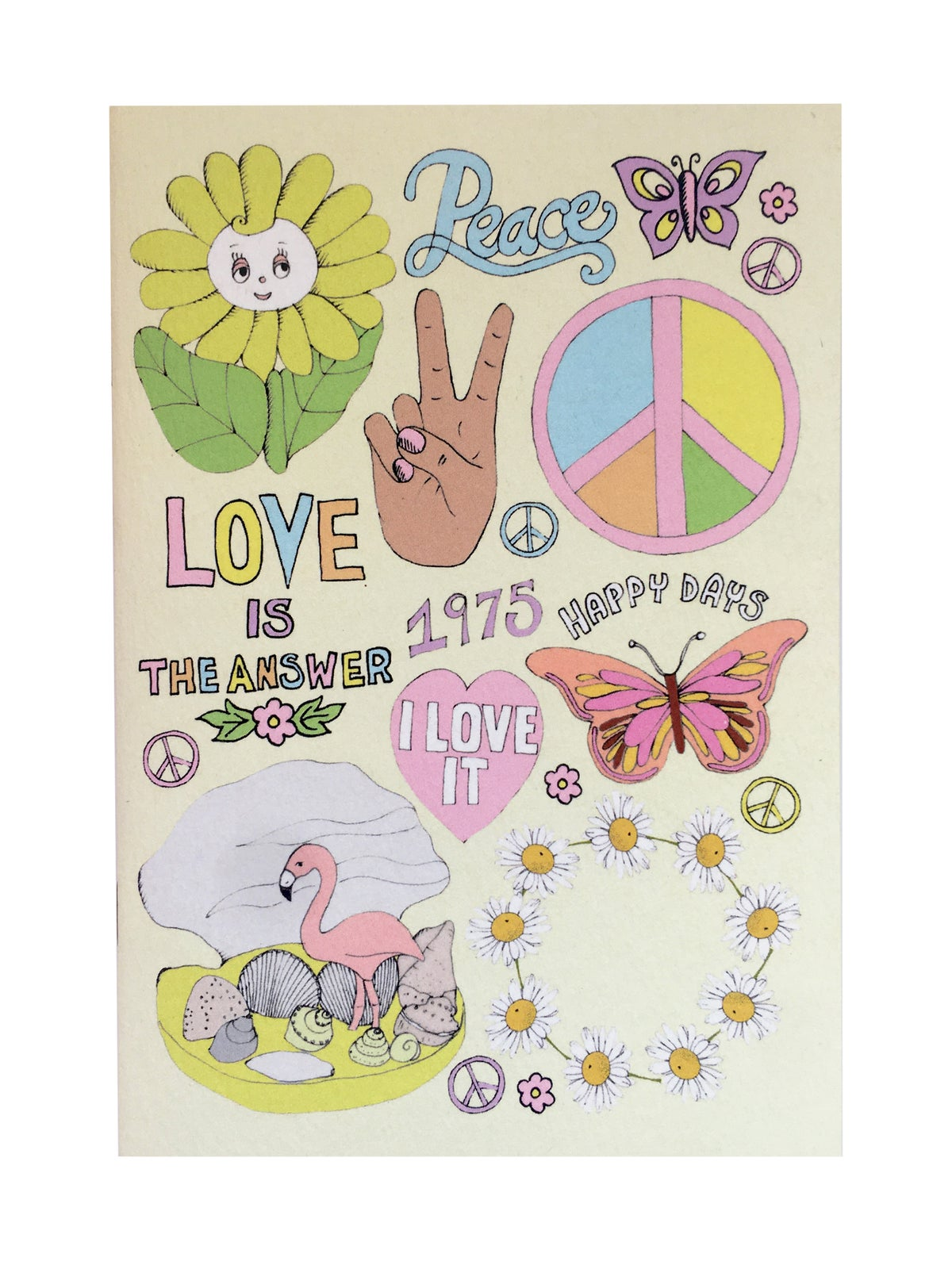 Peace and Love A6 Pocket Notebook