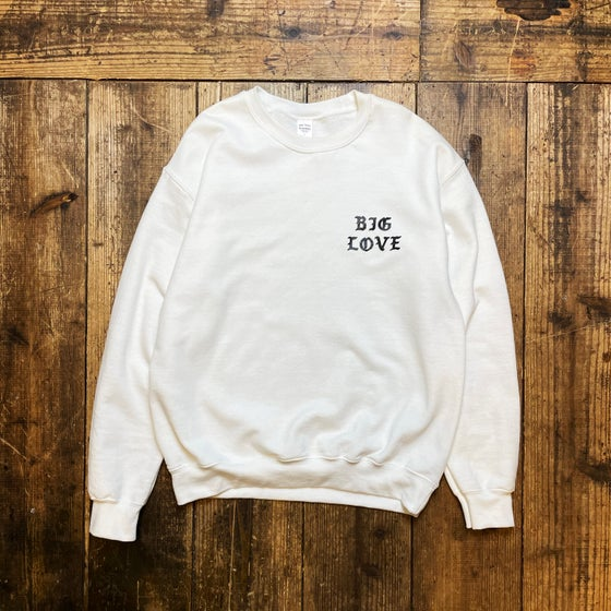 Image of BIG LOVE SWEAT SHIRT -WHITE-