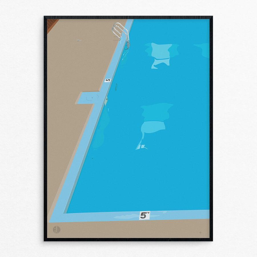 Image of Raul Loves the Pool - by Tim Kapustka