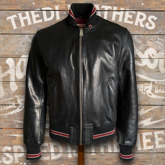 Image of THEDI LEATHERS BOMBER JACKET