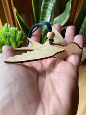 Image of Wooden Bird Ornament