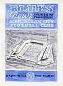 Image 1 of Vintage Birmingham City FC programme cover