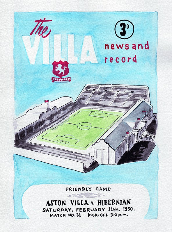 Image of Vintage Aston Villa FC programme front page