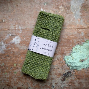 Wrist Worms, Wool/Lama, Moss