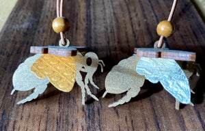 Image of Wooden Bee Ornament
