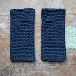 Wrist Worms, Wool, Petrol Mix