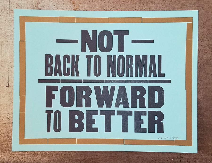 """Image of LIMITED STOCK """"Forward to Better"""" poster"""