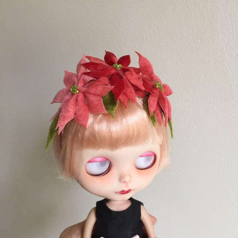 Image of Poinsettia Headband for Neo Blythe Dolls 3